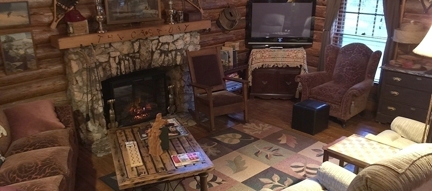 Casaday Cabin Living Room